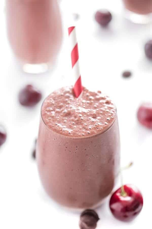 Chocolate Cherry Smoothie Recipe - a healthy breakfast recipe