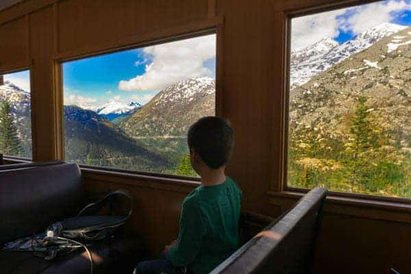 Skagway - Asher on Train