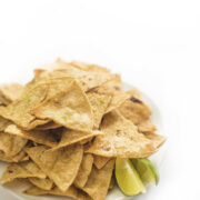 Lime Baked Tortilla Chips with Sea Salt