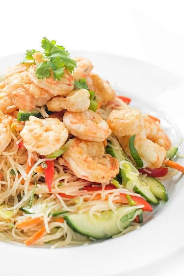 Thai Shrimp Rice Noodle Salad