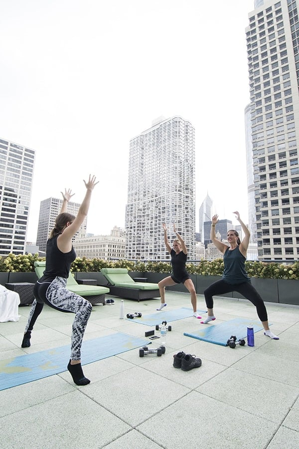 Rooftop Barre Class at Palomar