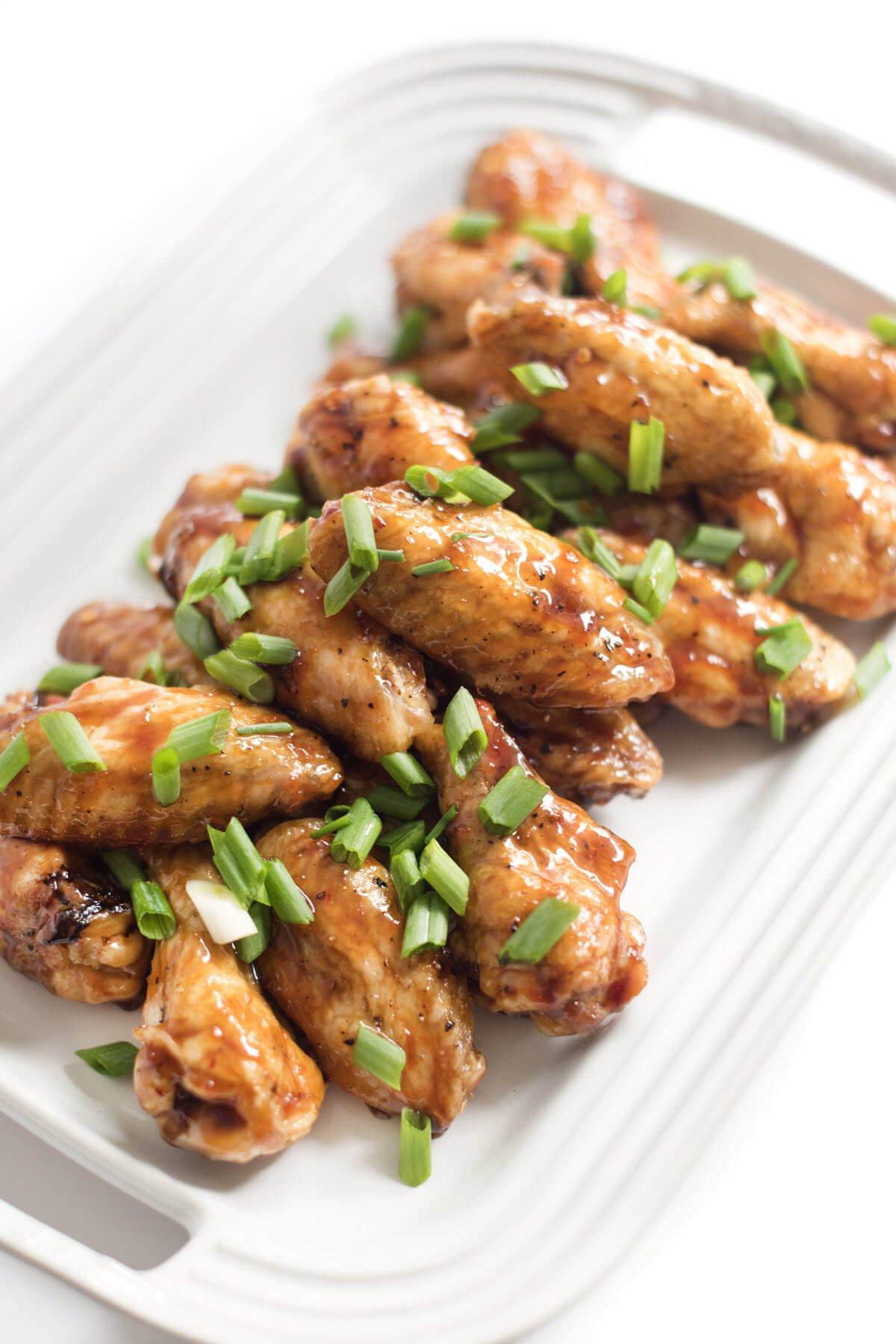 Baked Asian Glazed Chicken Wings