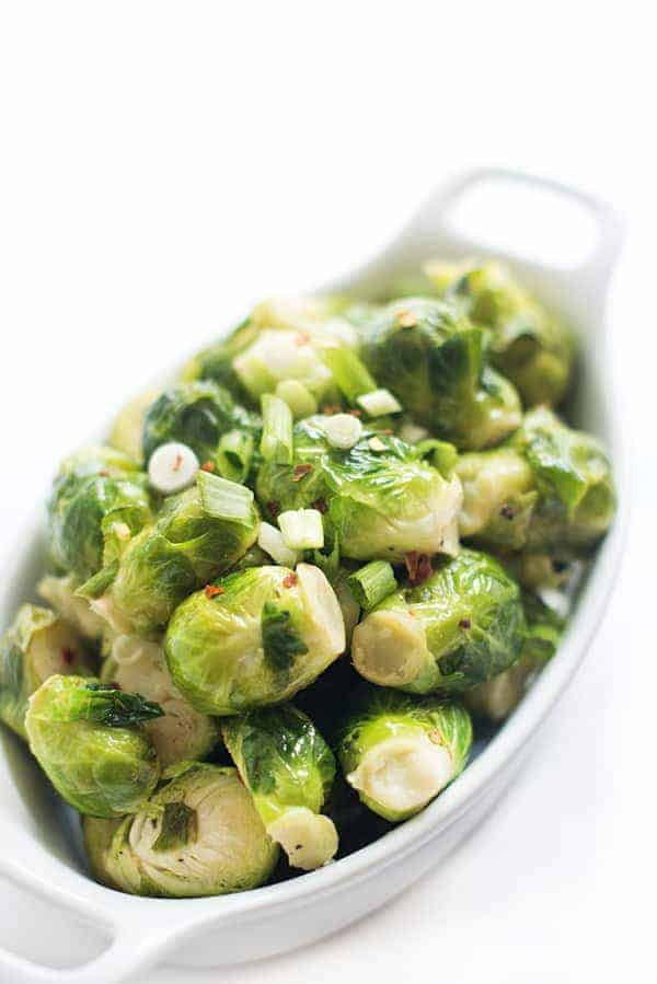 Brussels Sprouts with Lemon and Garlic - an easy side dish recipe