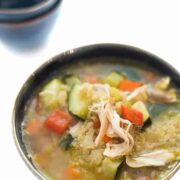 Turkey Vegetable Soup with Quinoa - a healthy gluten free soup recipe