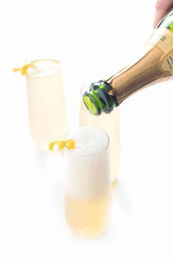 French 75 Champagne Gin Cocktail Recipe