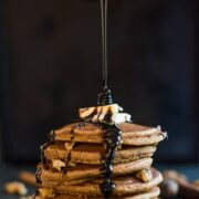 Gingerbread Buckwheat Pancakes - a healthy breakfast recipe