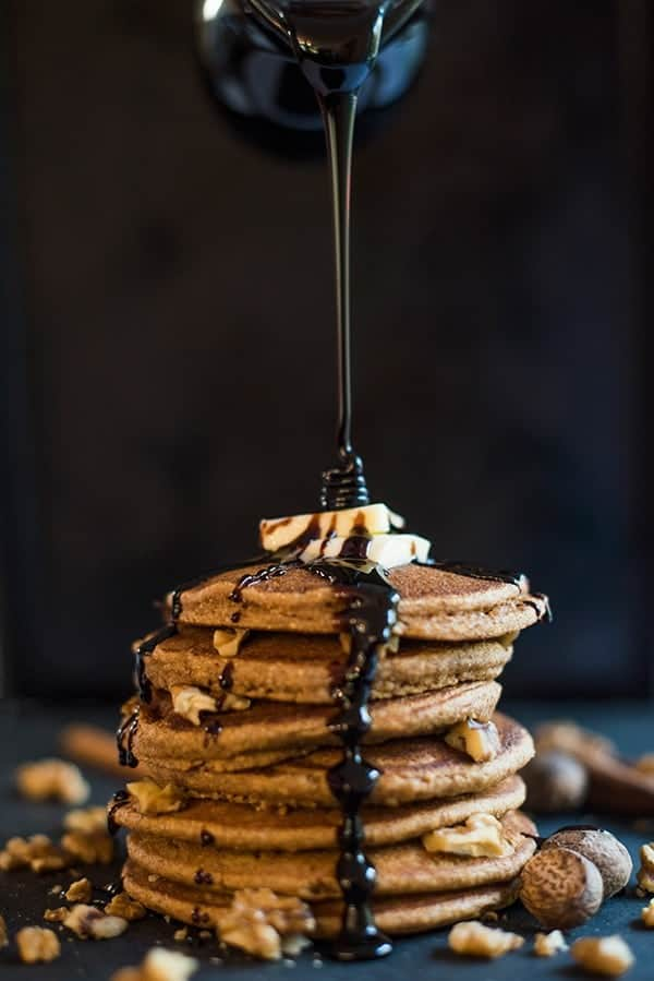Gingerbread Buckwheat Pancakes - a healthy breakfast recipe