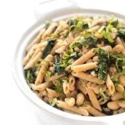 Sausage Kale and White Bean Pasta