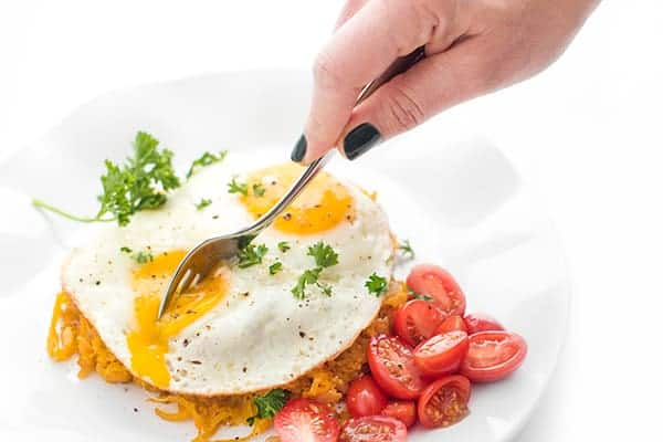 Butternut Squash Skillet Hashbrowns with Fried Eggs - The Lemon Bowl®
