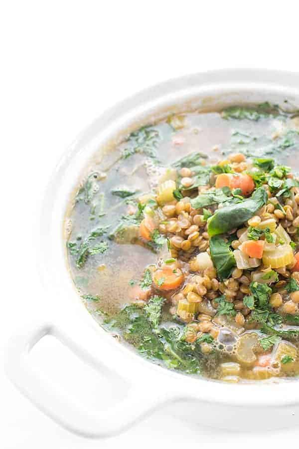 Lebanese Lentil Soup with Greens Recipe