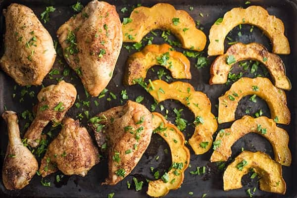Roasted Chicken and Acorn Squash Recipe