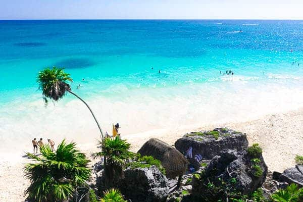 Tulum Beach Turqoise Waters