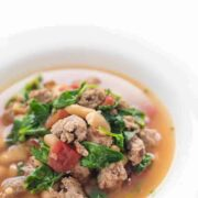 Turkey Sausage, Kale and Bean Soup Recipe