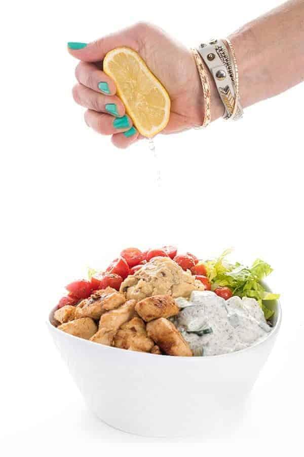Lebanese Chicken Tawook Bowls
