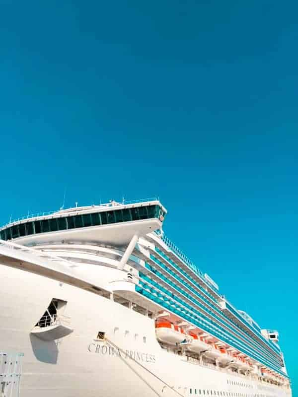 Crown Princess Ship Exterior Vertical