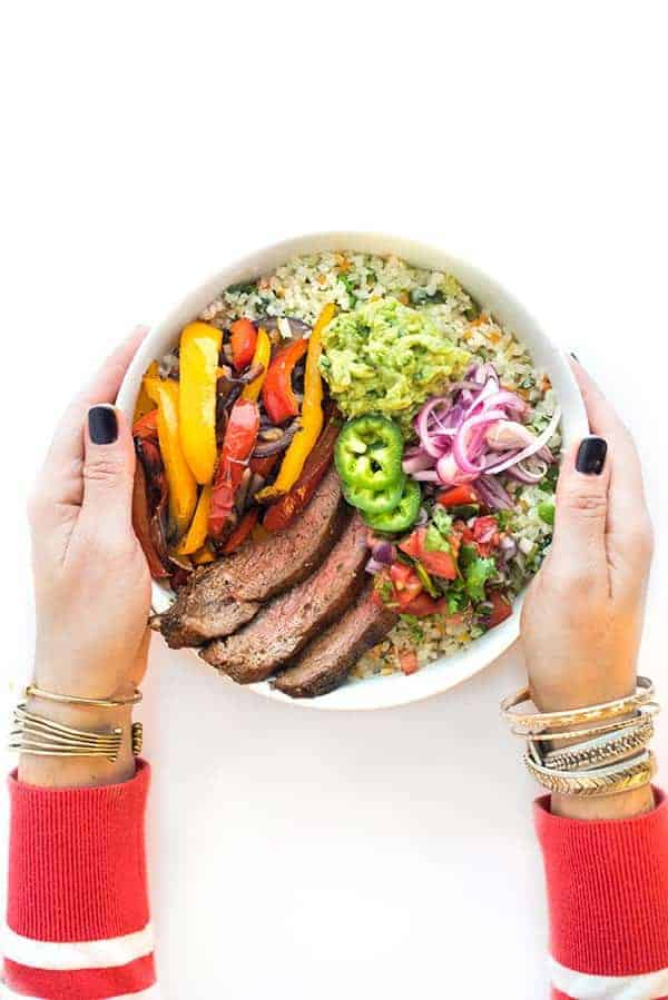 Steak Fajita Bowls with Riced Veggies