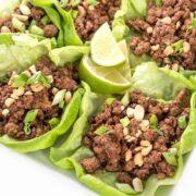 Szechuan Beef Lettuce Cups - a healthy, gluten free Asian recipe