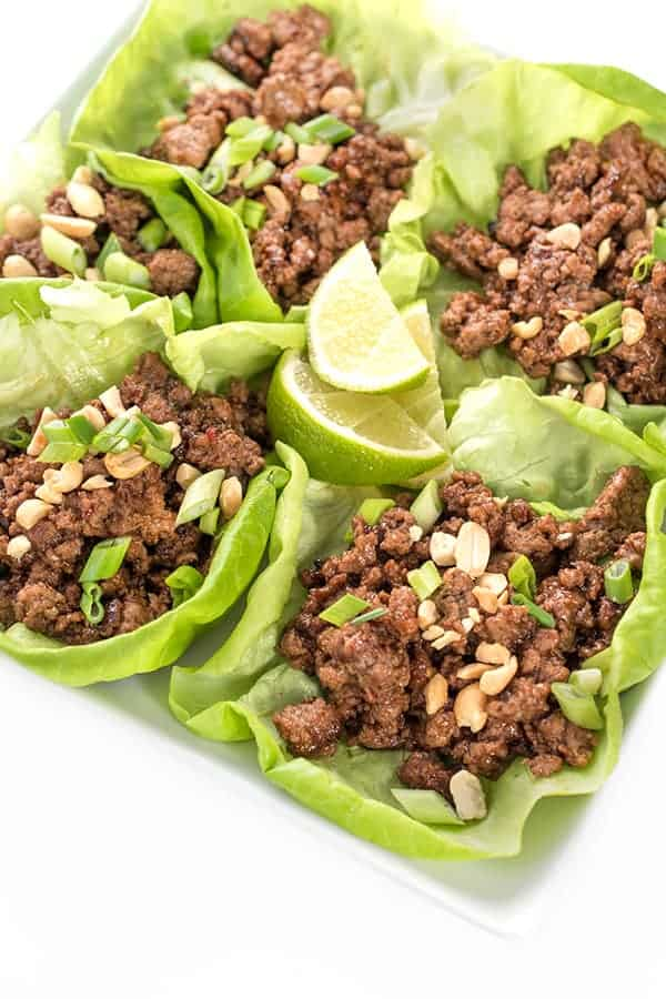 Asian Szechuan Beef Lettuce Wraps