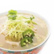 Asian Chicken Soup in a bowl