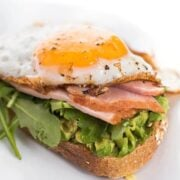 Avocado Toast with Ham and Egg Recipe