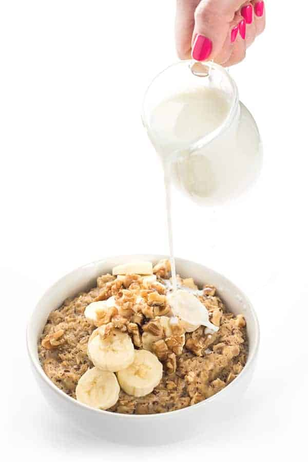 Quick Banana Oatmeal with Flax Seed