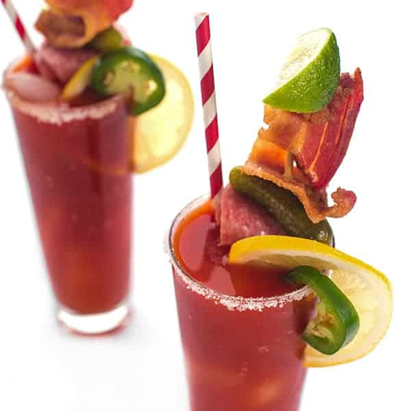 Spicy Bloody Mary With Smoky Bacon