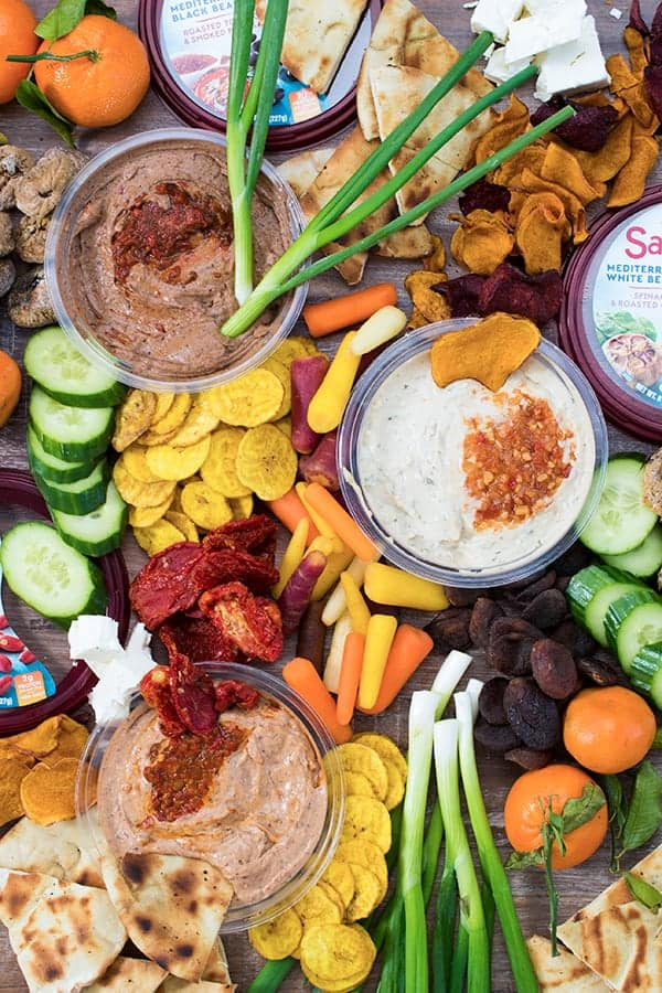 Mediterranean Bean Dip Party Board