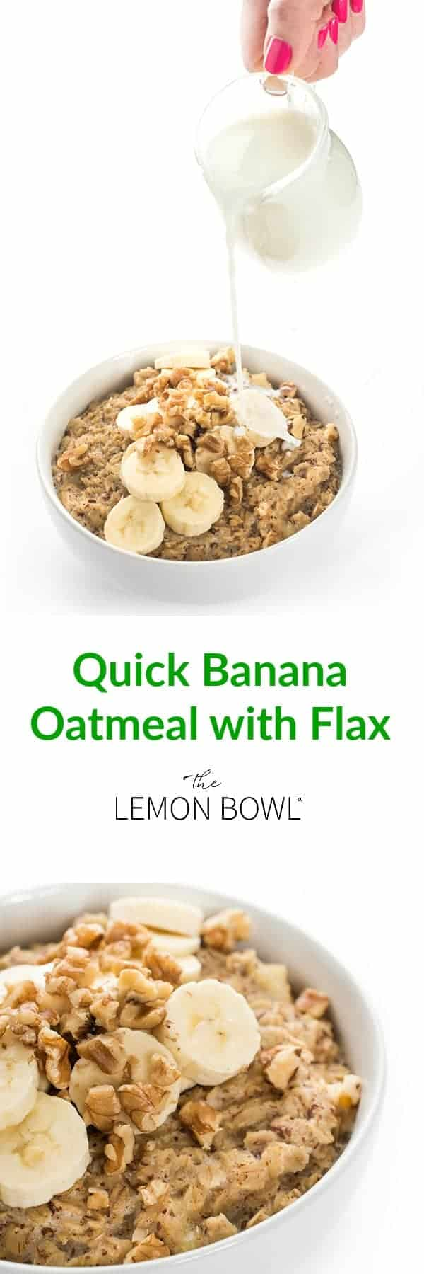 Quick Banana Oatmeal with Flax