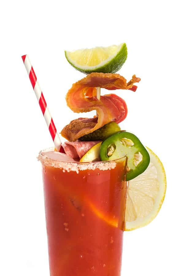 Spicy Bloody Mary With Smoky Bacon Drink