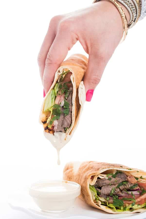 Beef Sharama Pita with Tahini Sauce Lebanese Recipe