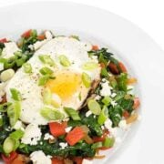 Sauteed Greek Veggies with Eggs and Feta Breakfast Recipe