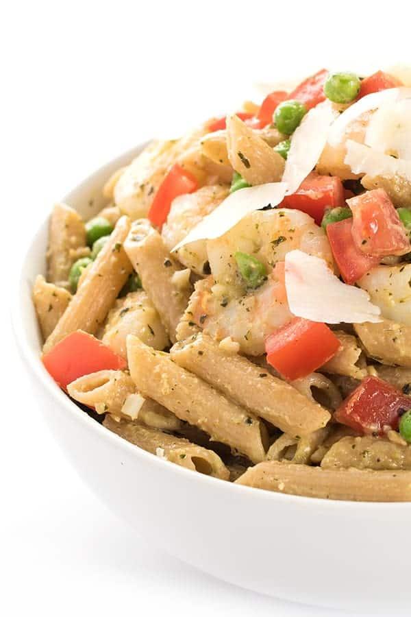 Easy Pesto Pasta with Shrimp Recipe
