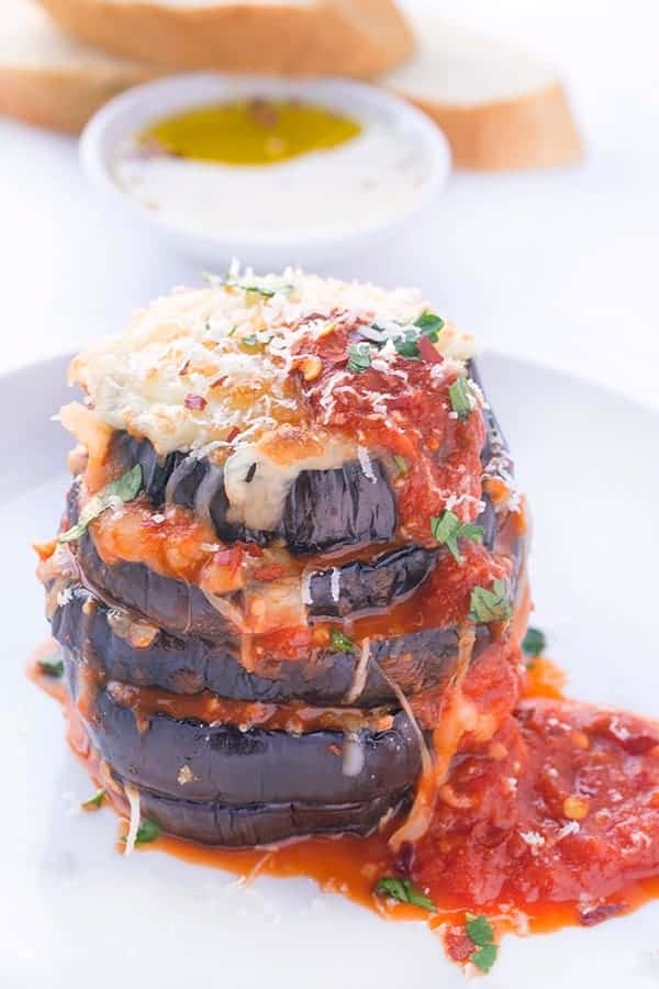 Eggplant Parmesan - vegetarian dinner recipe