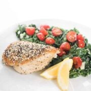 Everything Chicken Dinner Recipe with Creamed Kale