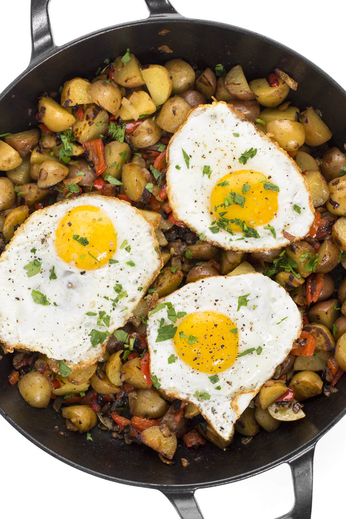 Peppers and Onions Breakfast Hash Recipe