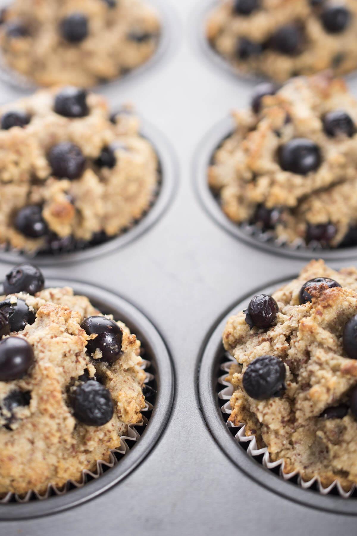 Gluten Free Blueberry Muffins Close Up