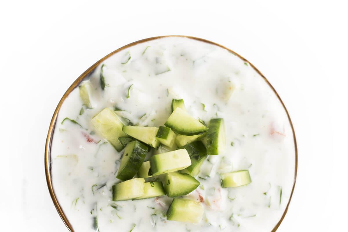 Indian Cucumber Yogurt Raita