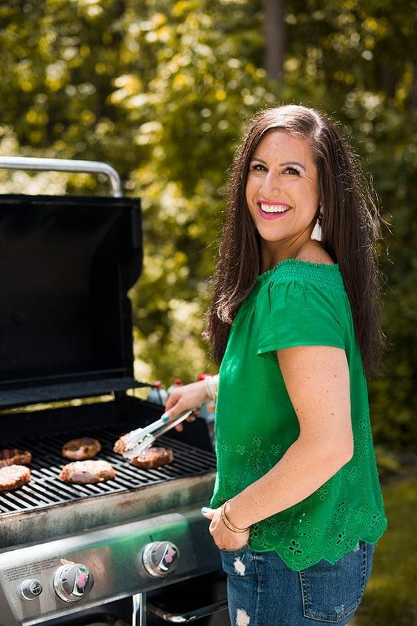 Liz Grilling Pork Chops