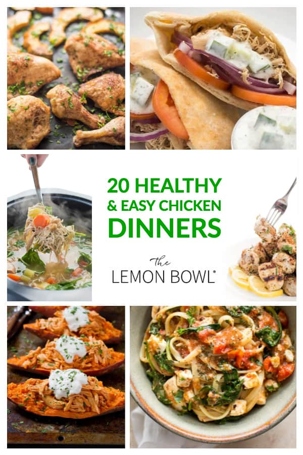 20 Healthy and Easy Chicken Recipes
