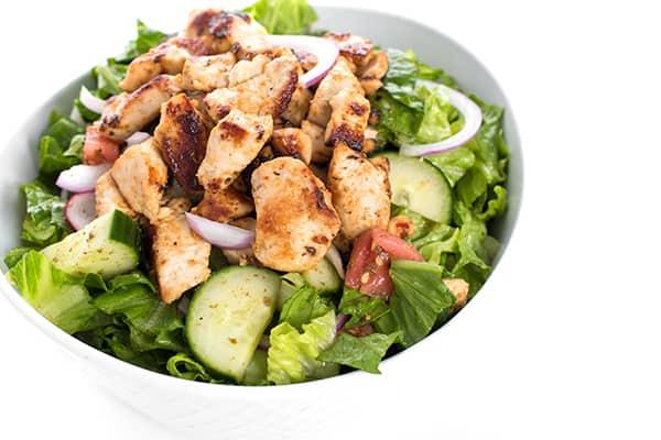 chicken in a salad