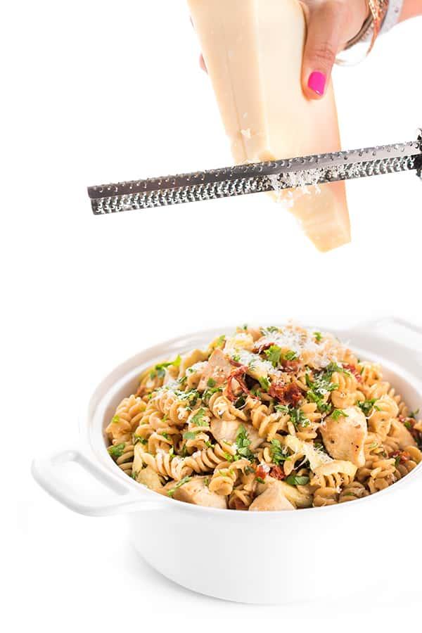 Italian Chicken Pasta with Artichokes