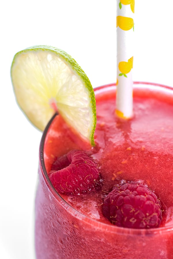 Raspberry Peach Frozen Sangria Recipe