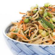 Soba Noodle Salad in a bowl
