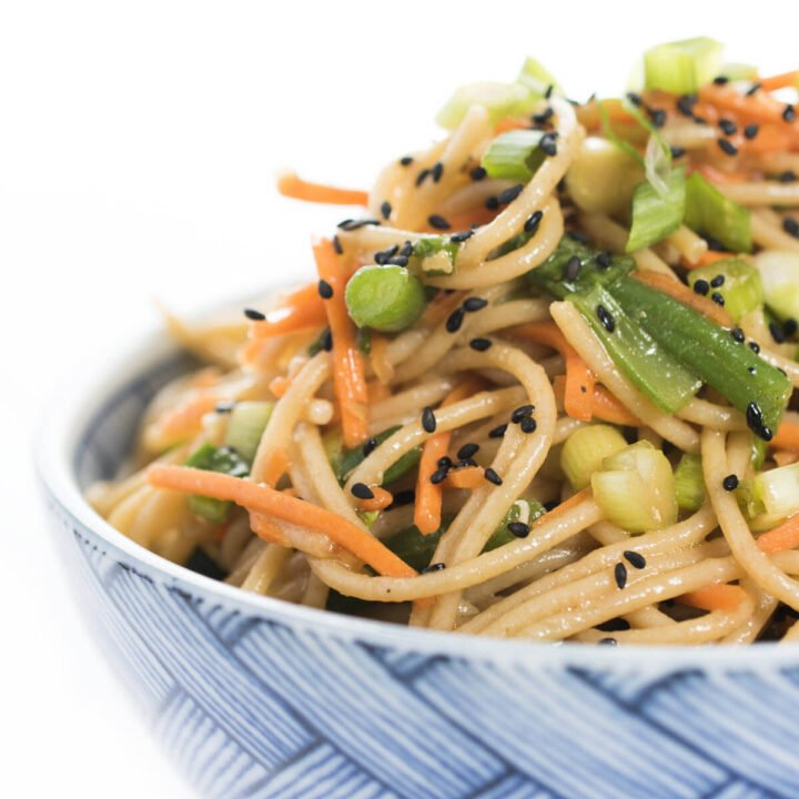 Soba Noodle Salad in a bowl