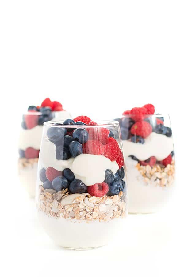 Greek Yogurt Muesli Parfaits