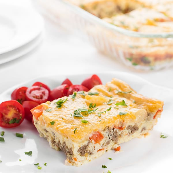 Easy Sausage and Pepper Egg Bake Recipe