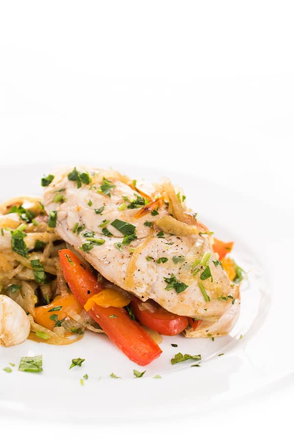 One Pan Italian Chicken and Vegetables