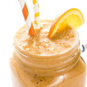 orange and ginger detox smoothie in a glass