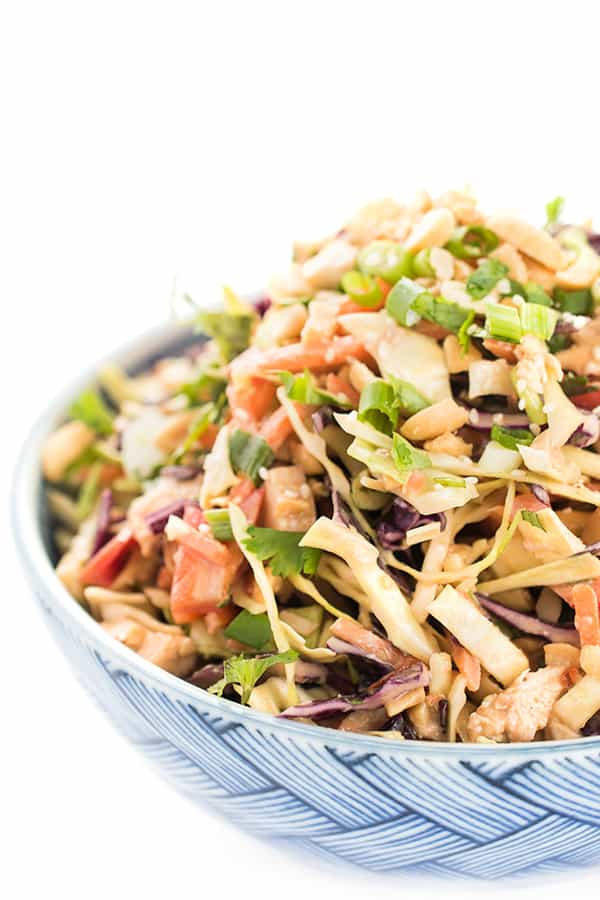 Healthy Asian Chicken Chopped Salad