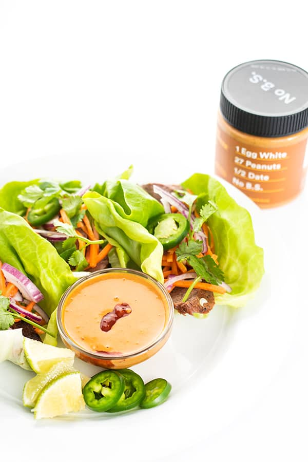 Thai Beef Lettuce Wraps with Peanut Dipping Sauce - The ...